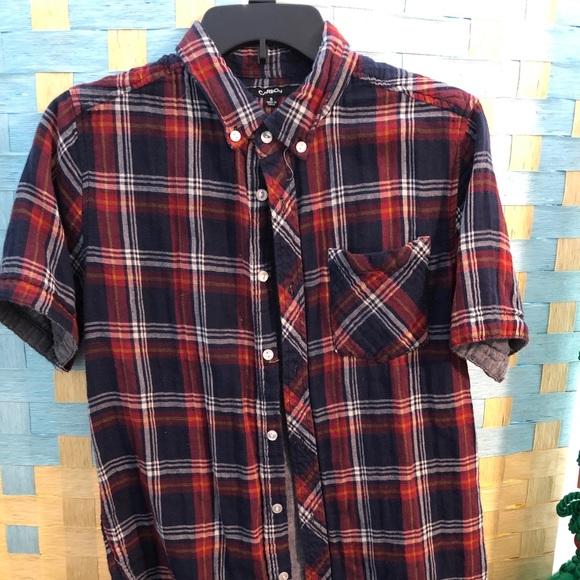Carbon Other - Short sleeve plaid shirt